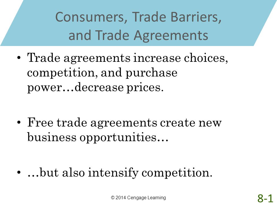 Consumers, Trade Barriers, and Trade Agreements