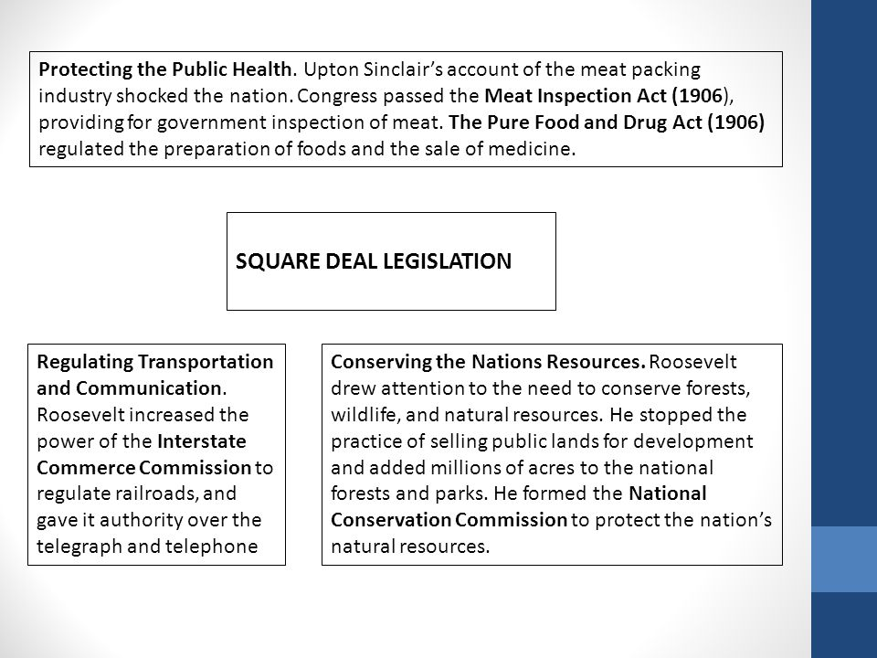SQUARE DEAL LEGISLATION