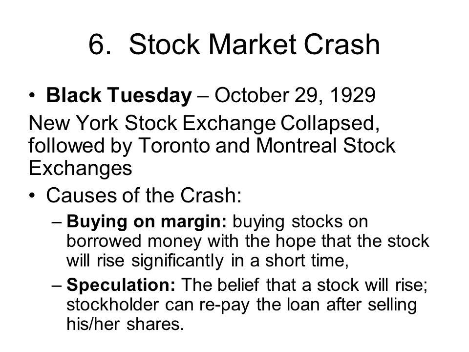 6. Stock Market Crash Black Tuesday – October 29, 1929