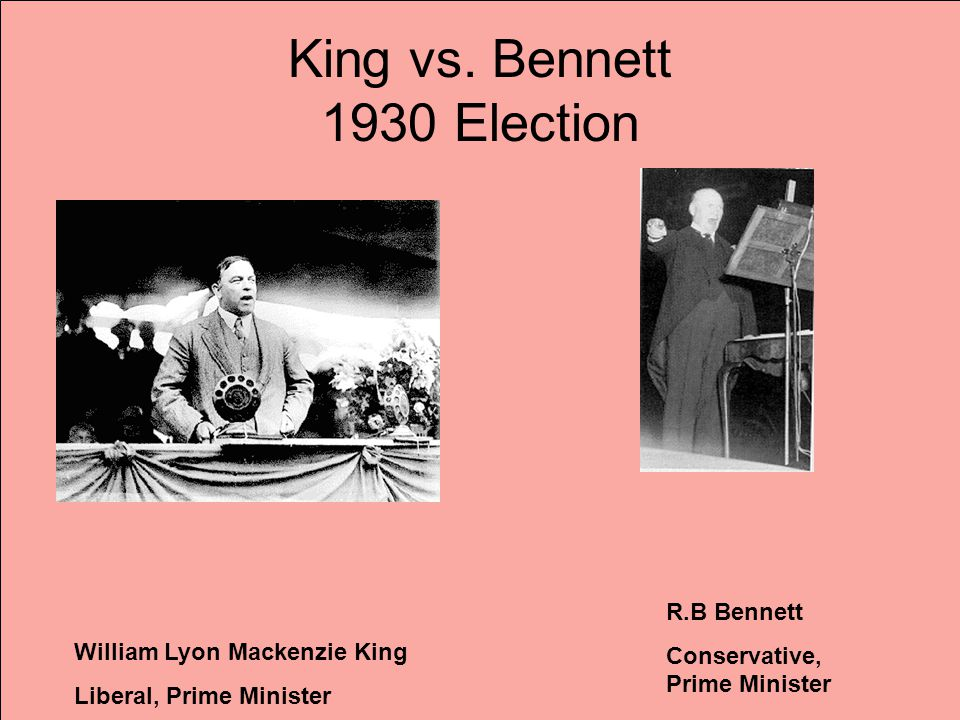 King vs. Bennett 1930 Election