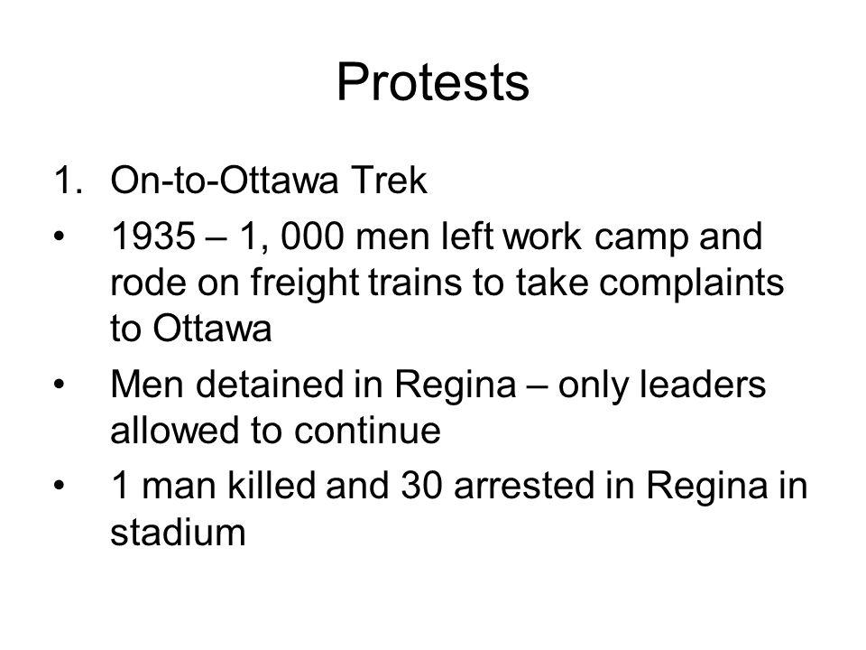 Protests On-to-Ottawa Trek