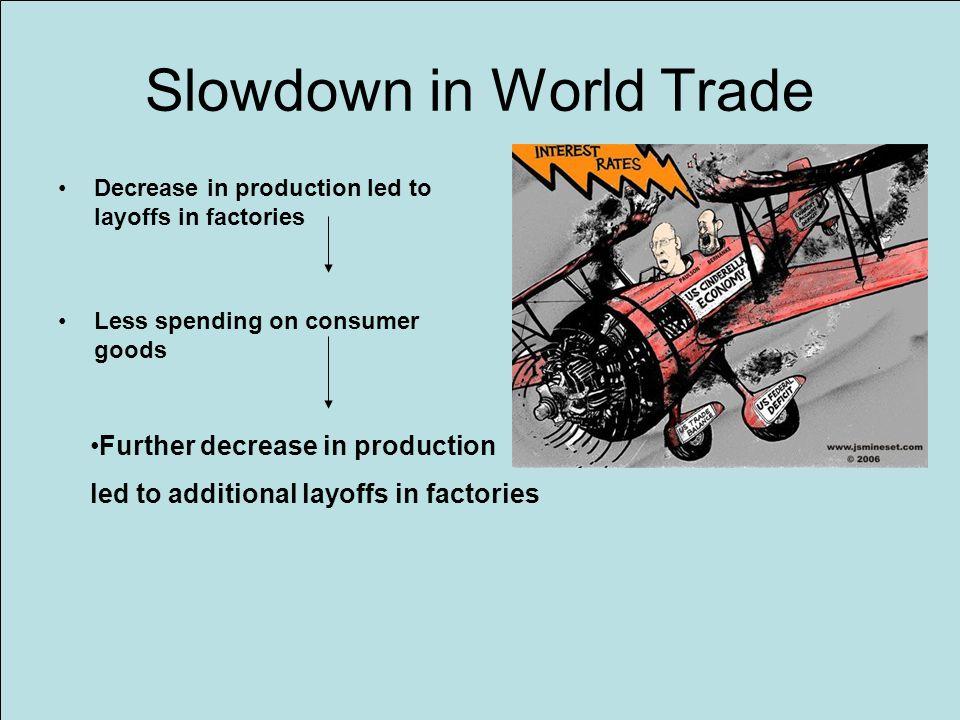 Slowdown in World Trade