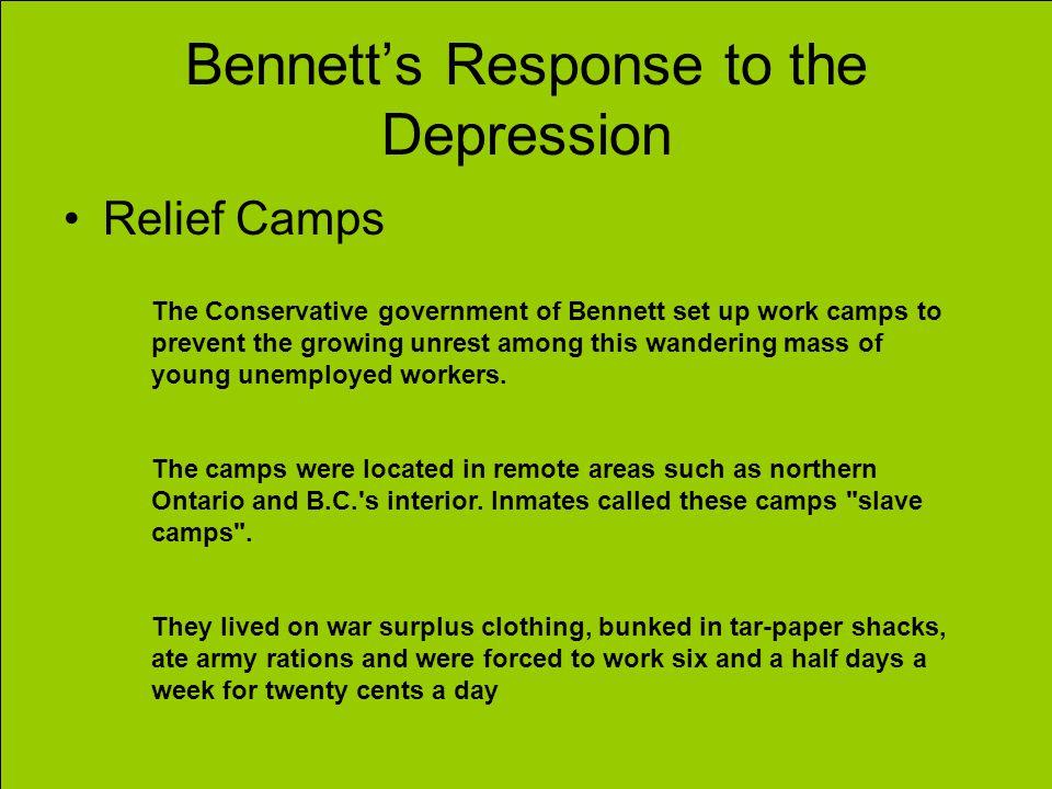 Bennett's Response to the Depression