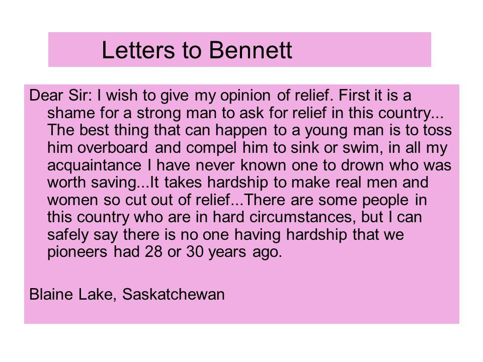 Letters to Bennett