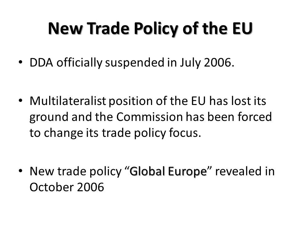 New Trade Policy of the EU