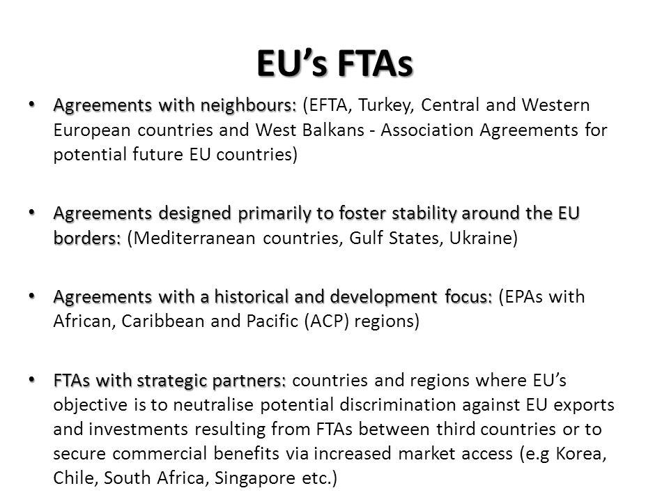 EU's FTAs