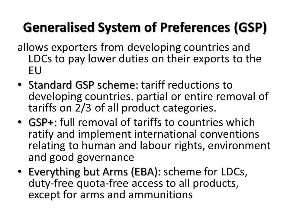 Generalised System of Preferences (GSP)