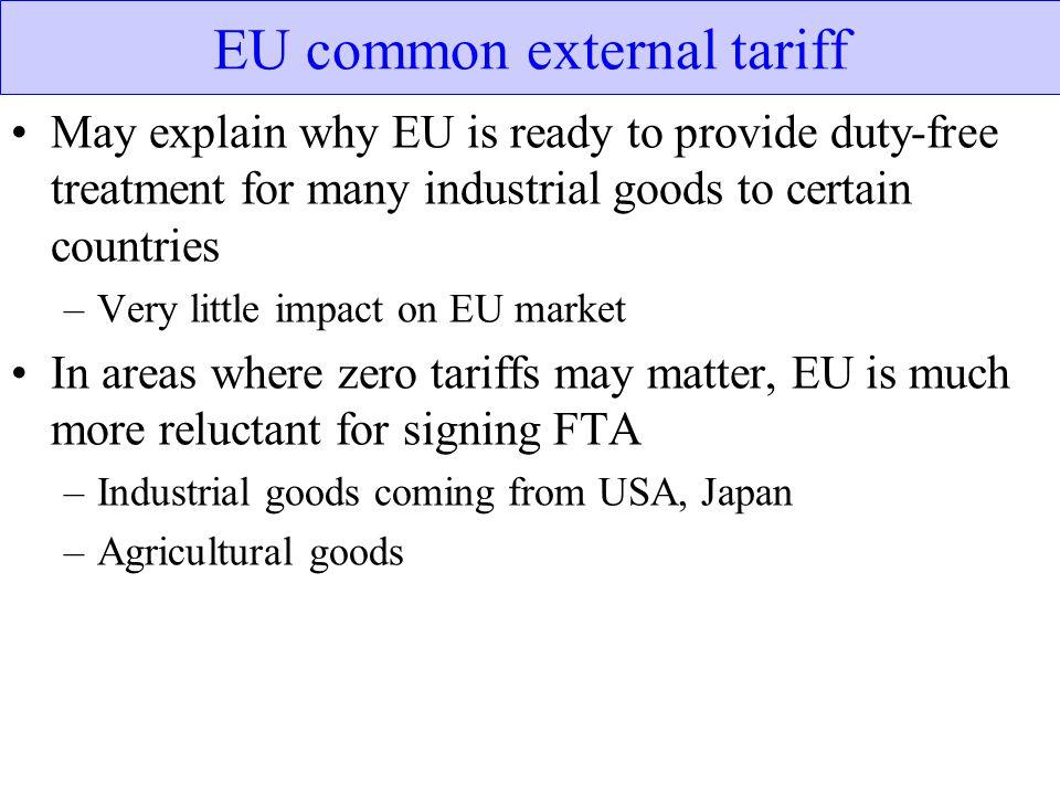 EU common external tariff