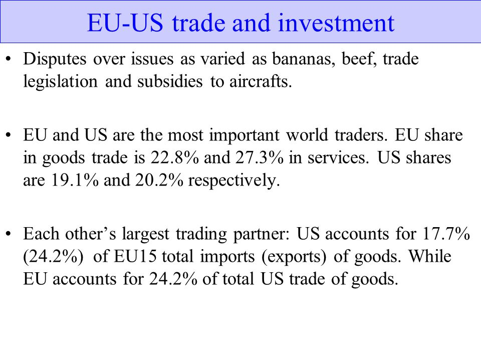 EU-US trade and investment