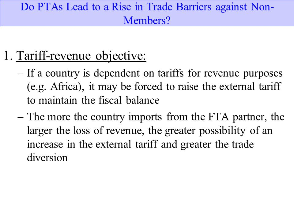 Do PTAs Lead to a Rise in Trade Barriers against Non-Members