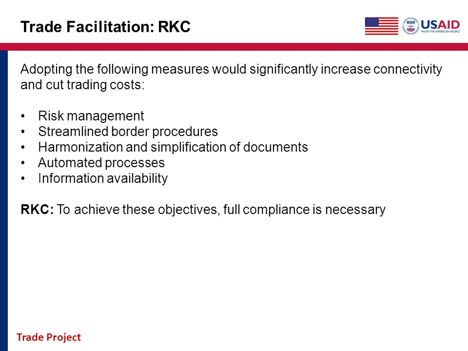 Trade Facilitation: RKC