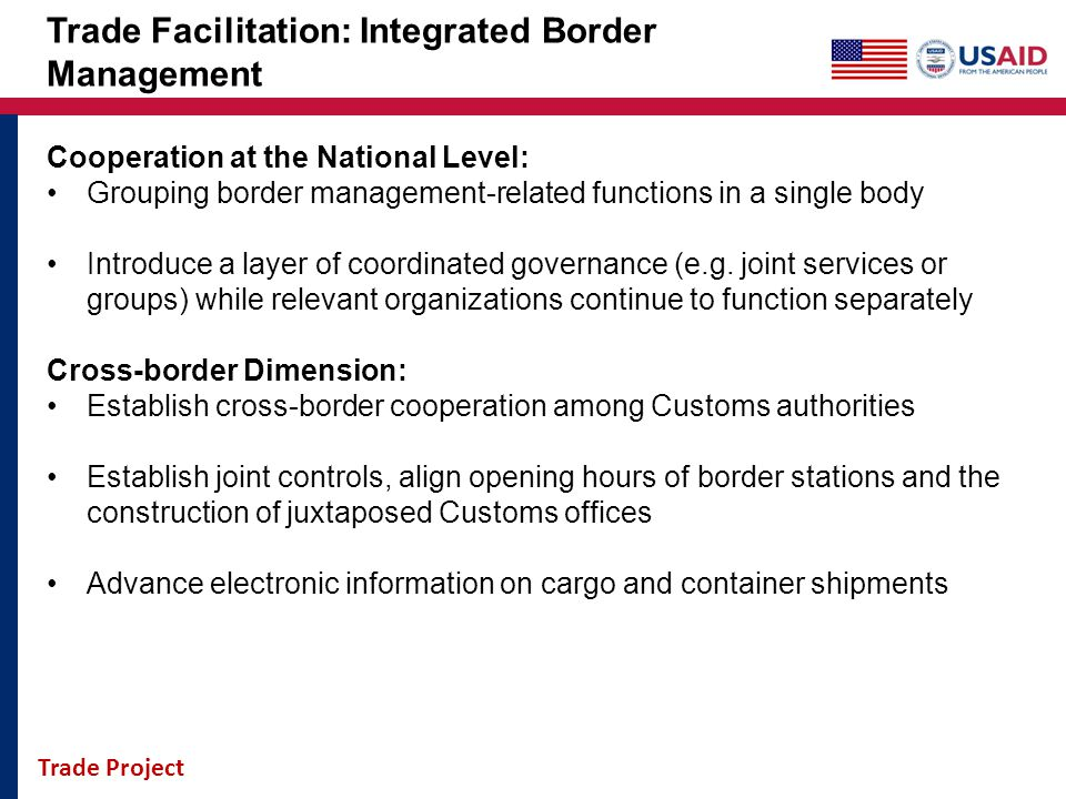 Trade Facilitation: Integrated Border Management