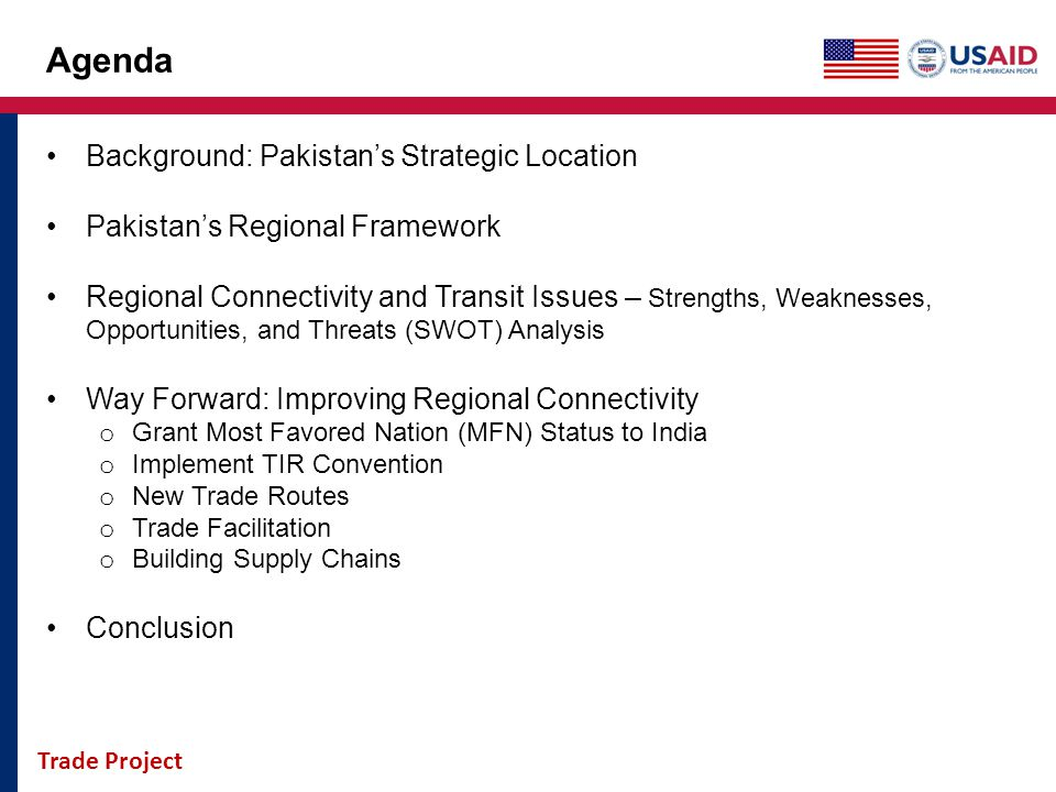 Agenda Background: Pakistan's Strategic Location