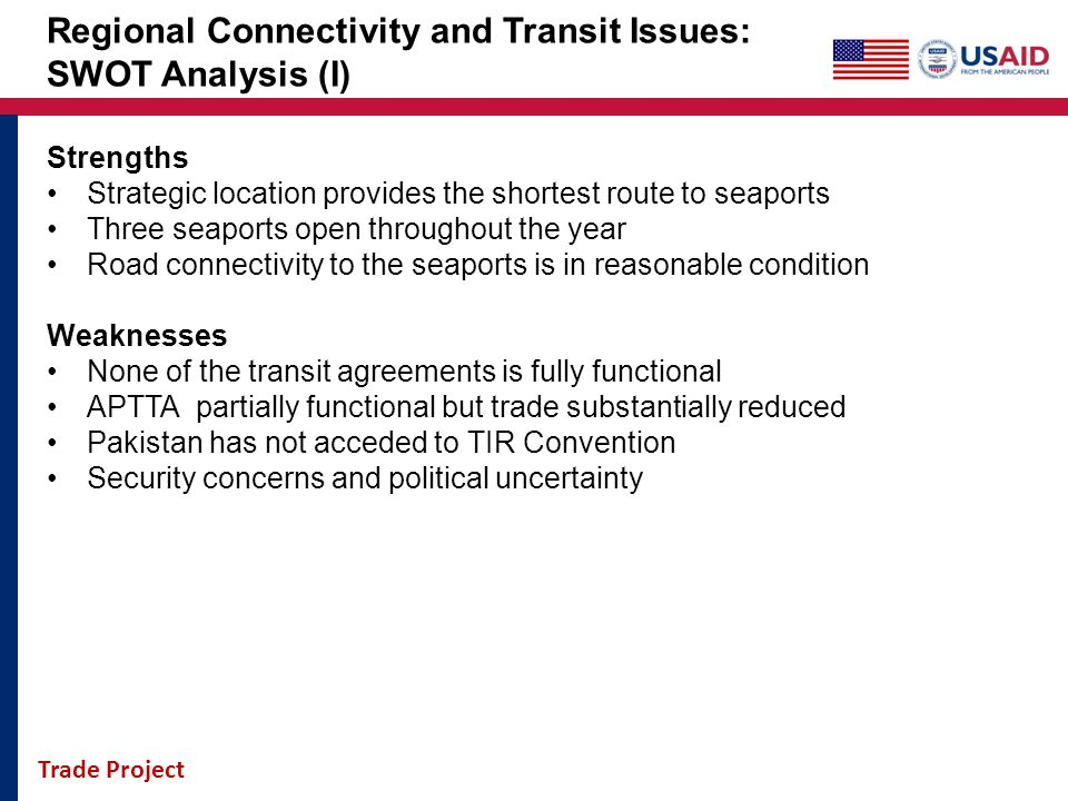 Regional Connectivity and Transit Issues: SWOT Analysis (I)