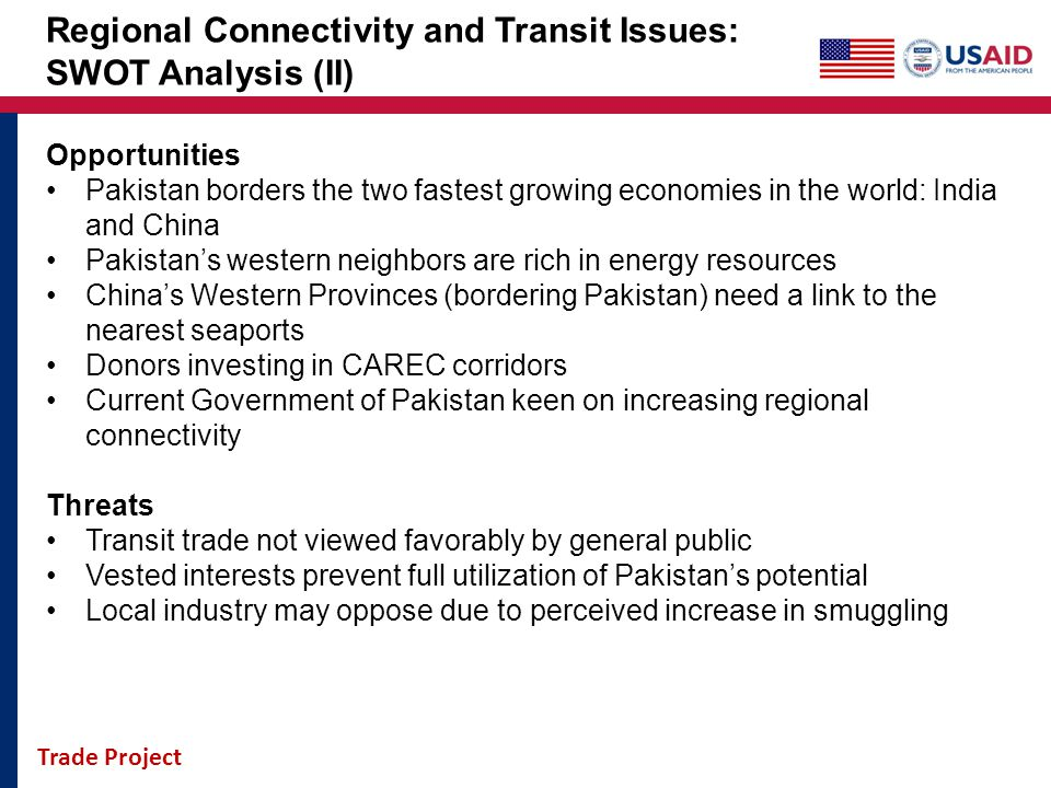 Regional Connectivity and Transit Issues: SWOT Analysis (II)