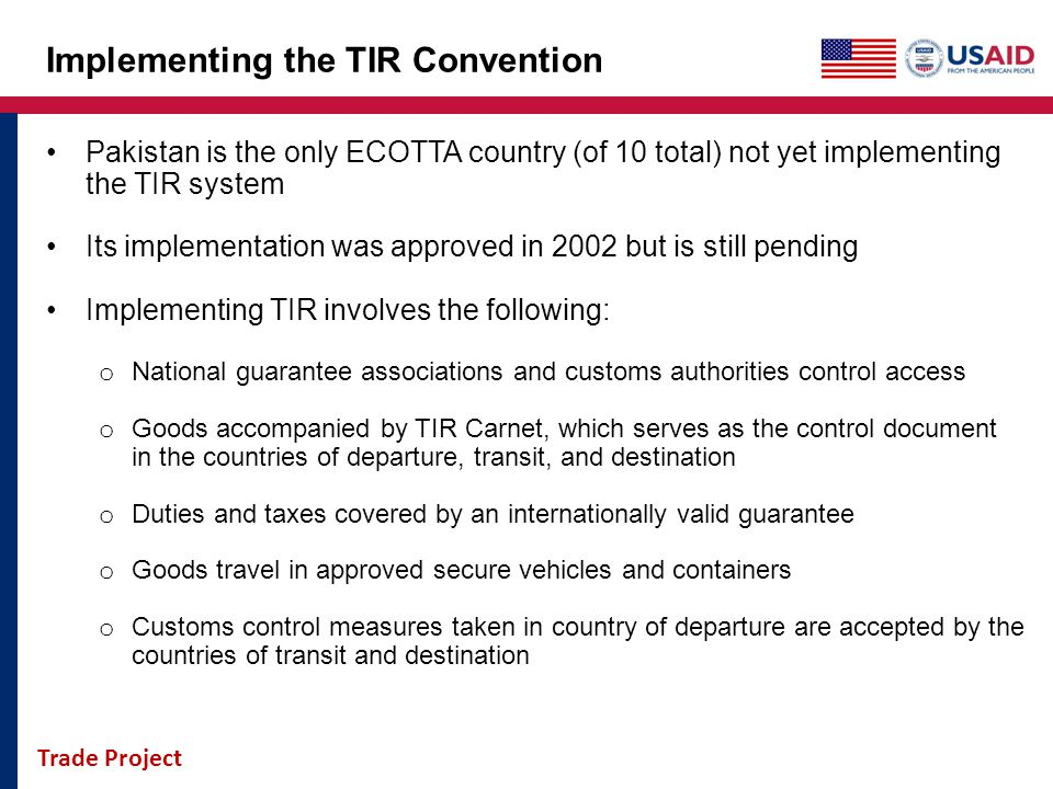 Implementing the TIR Convention