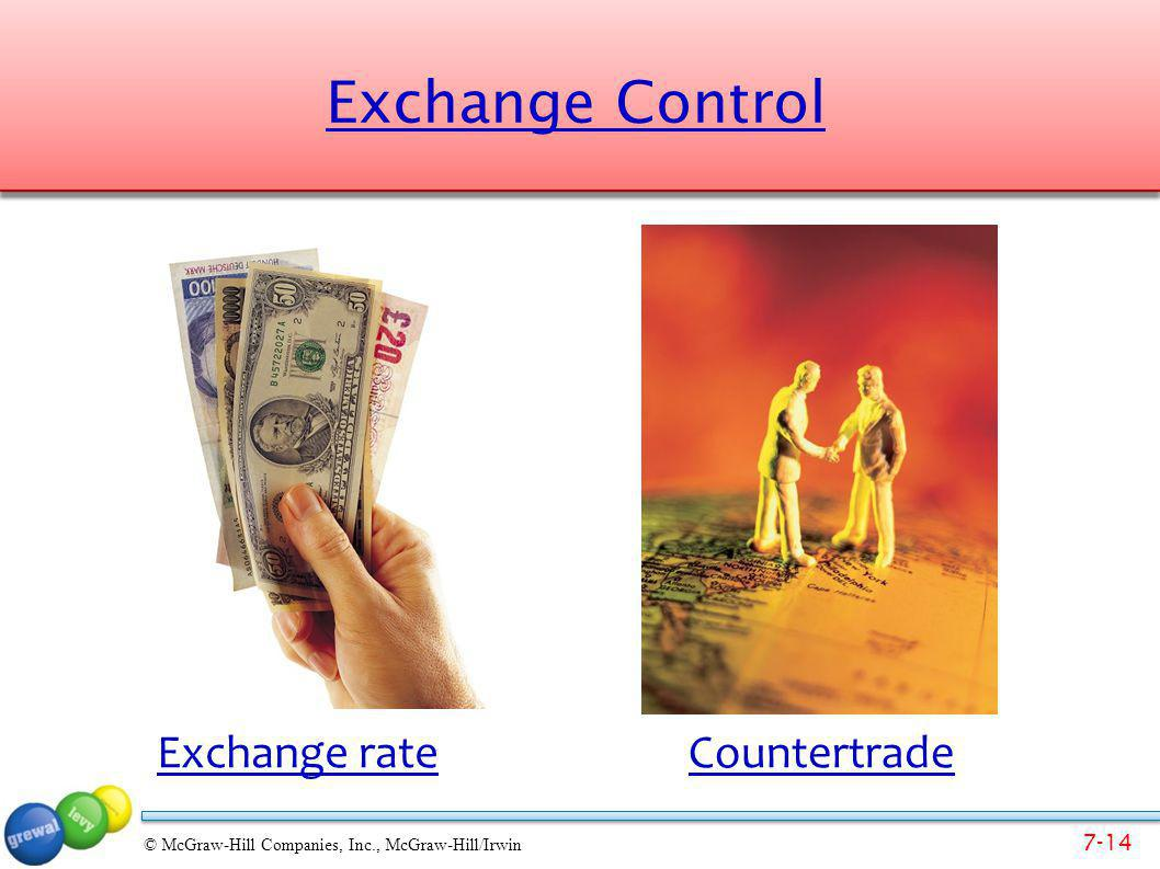 Exchange Control Exchange rate Countertrade