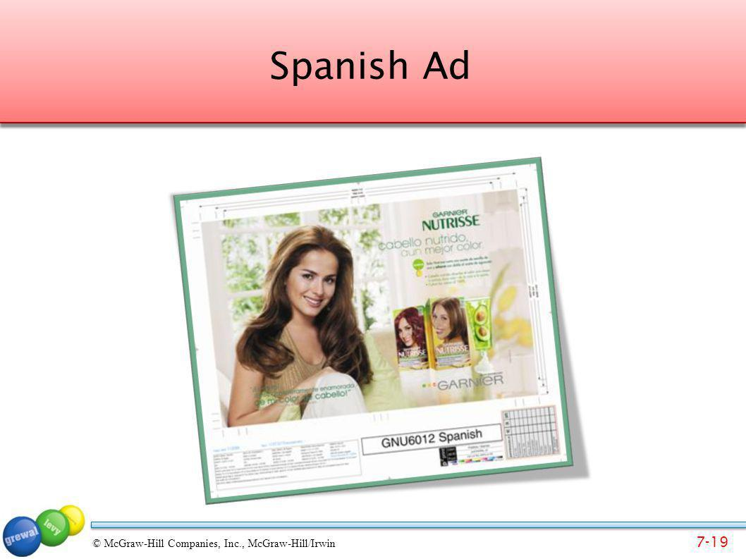 Spanish Ad Ask students – given their awareness of Spanish culture – why might this ad be effective How is it different than a U.S. ad