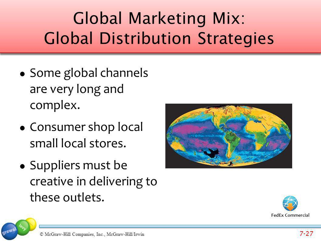 Global Marketing Mix: Global Distribution Strategies