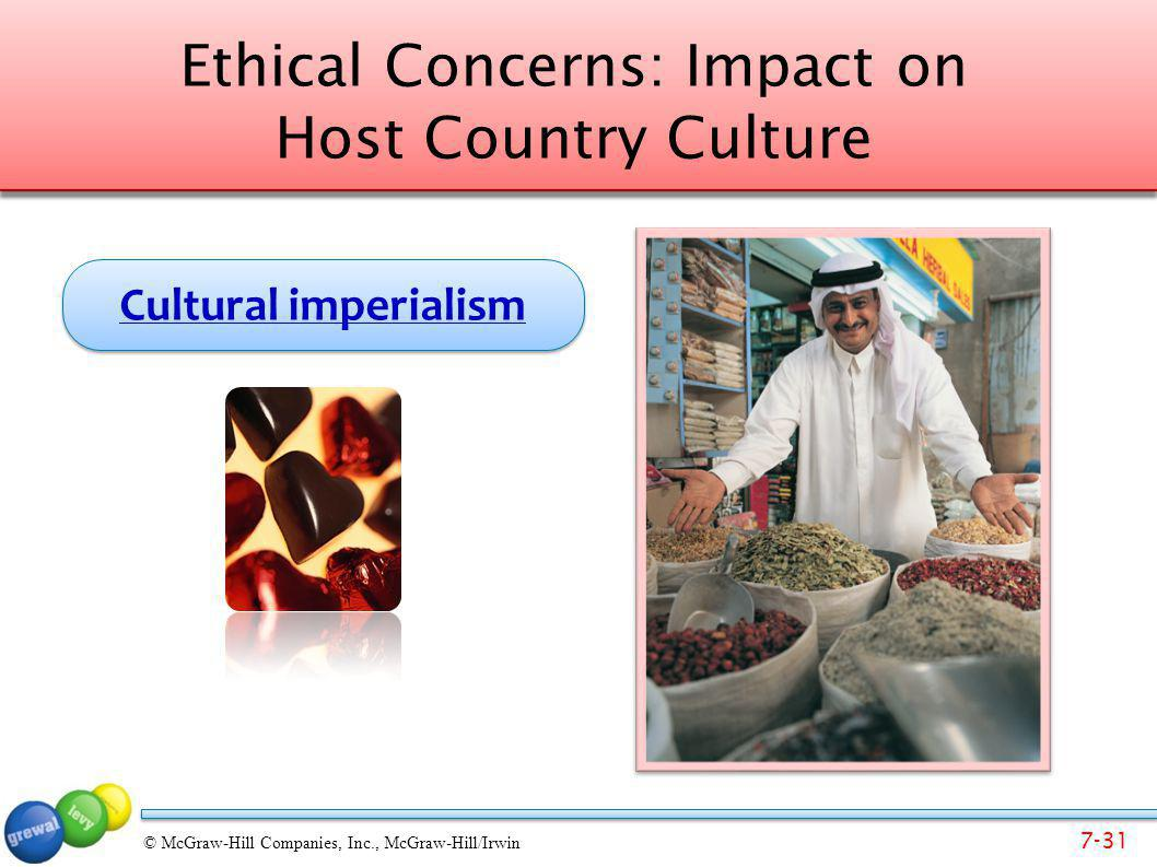Ethical Concerns: Impact on Host Country Culture