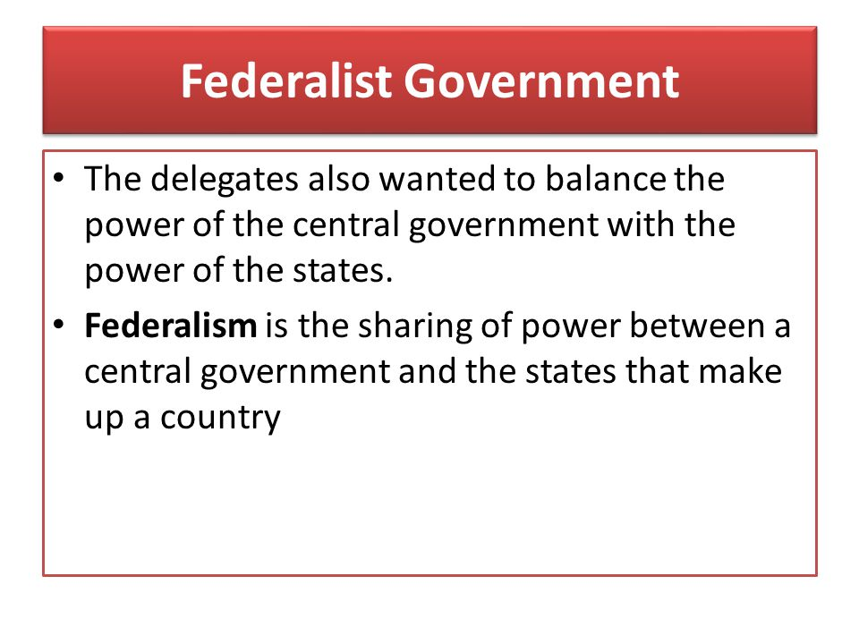 Federalist Government
