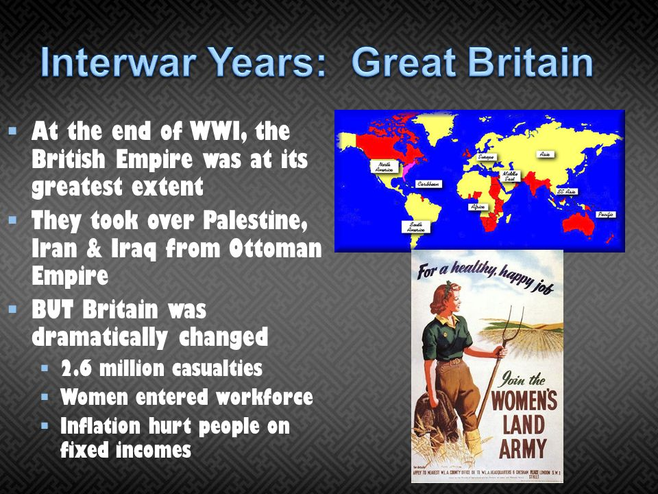 Interwar Years: Great Britain