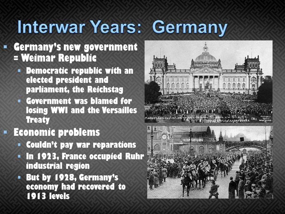 Interwar Years: Germany