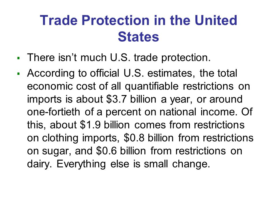Arguments for Trade Protection