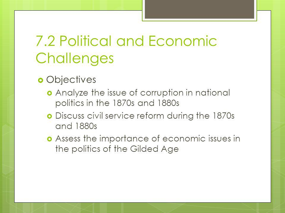 7.2 Political and Economic Challenges