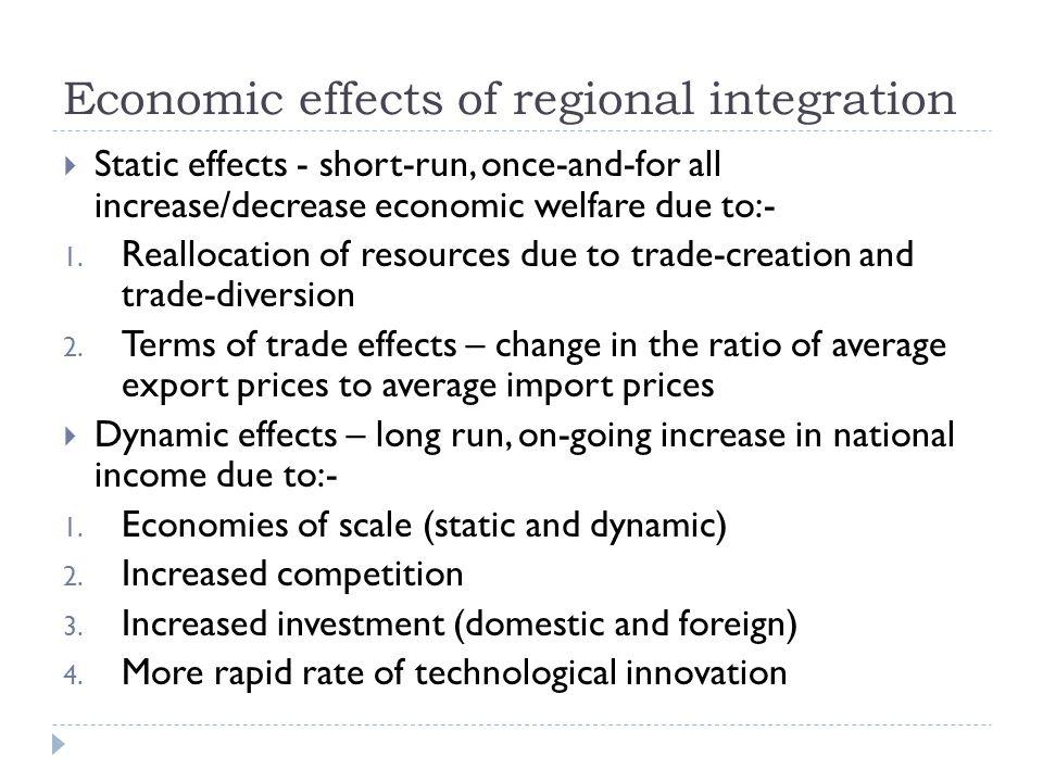 Economic effects of regional integration