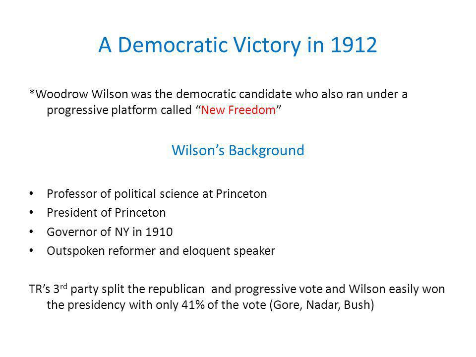 A Democratic Victory in 1912