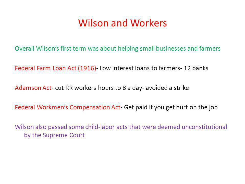 Wilson and Workers