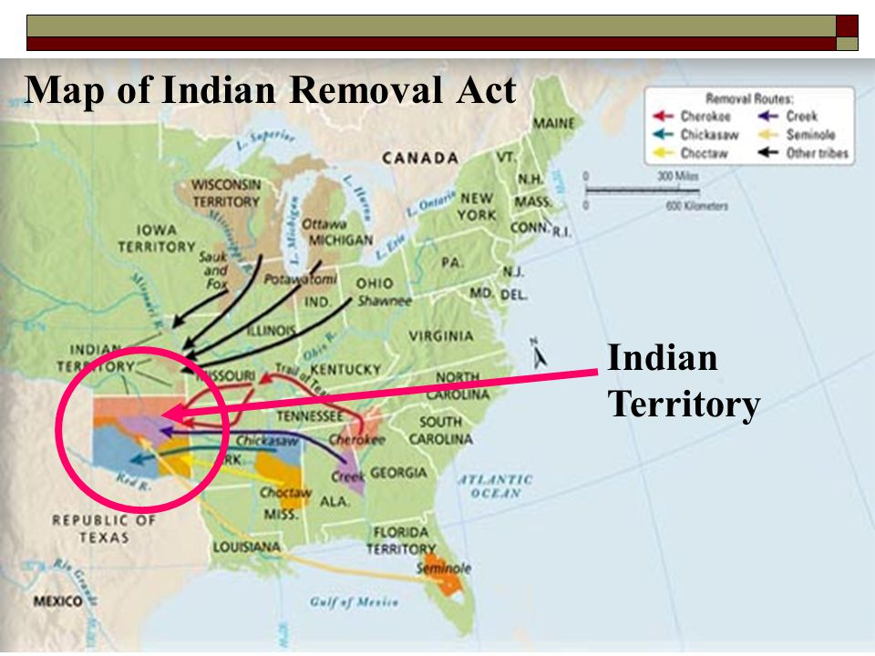 Map of Indian Removal Act