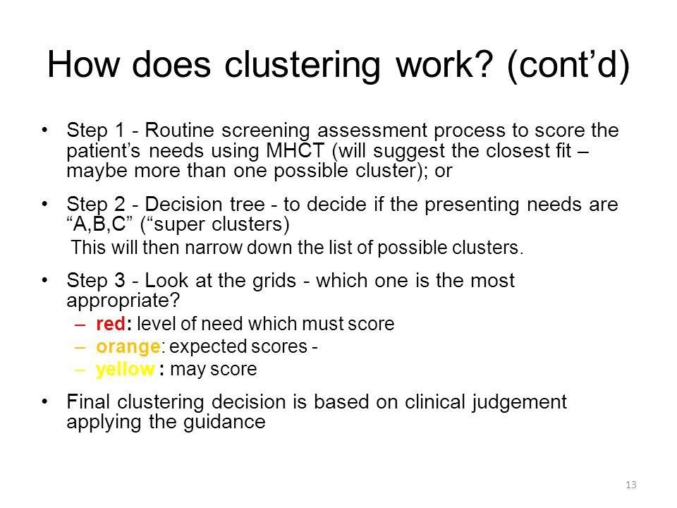 How does clustering work (cont'd)