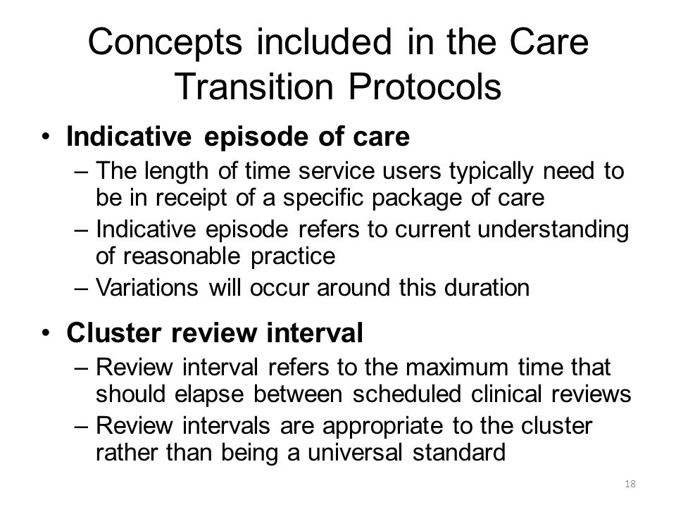 Concepts included in the Care Transition Protocols