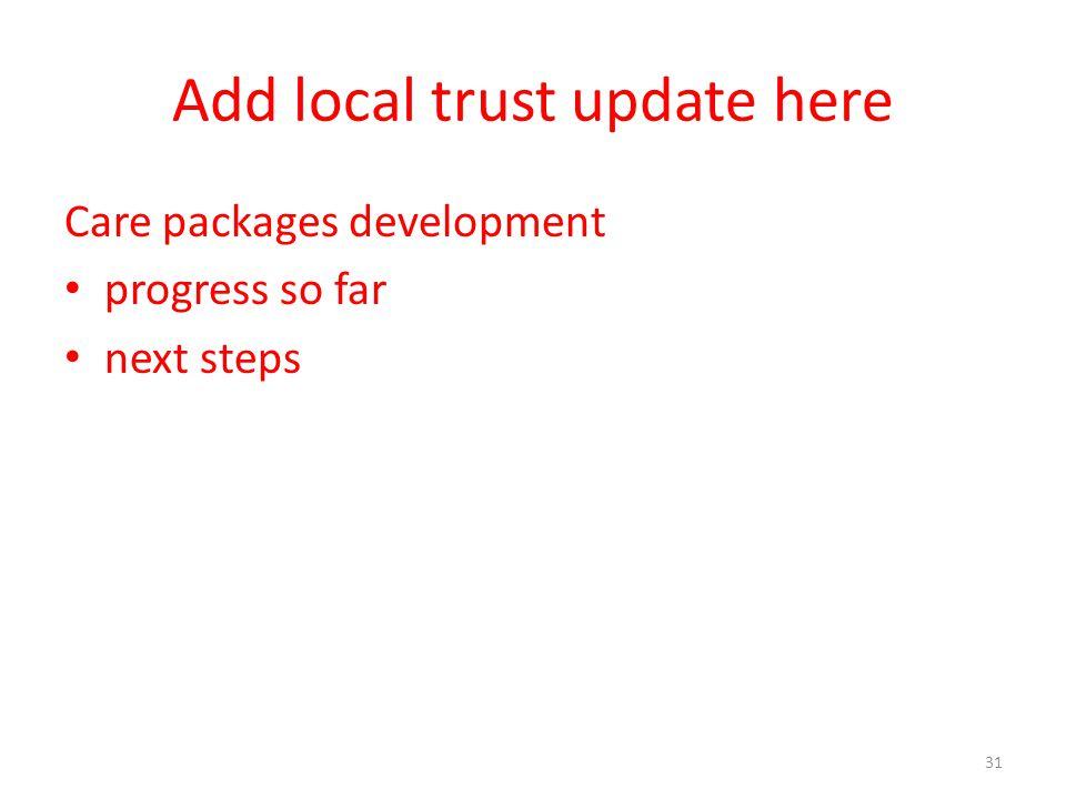 Add local trust update here