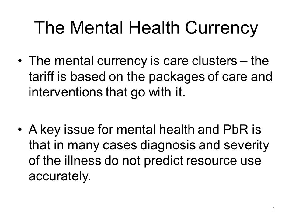 The Mental Health Currency