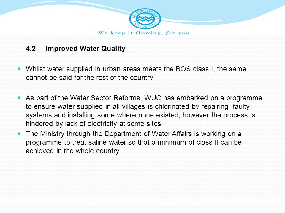 4.2 Improved Water Quality
