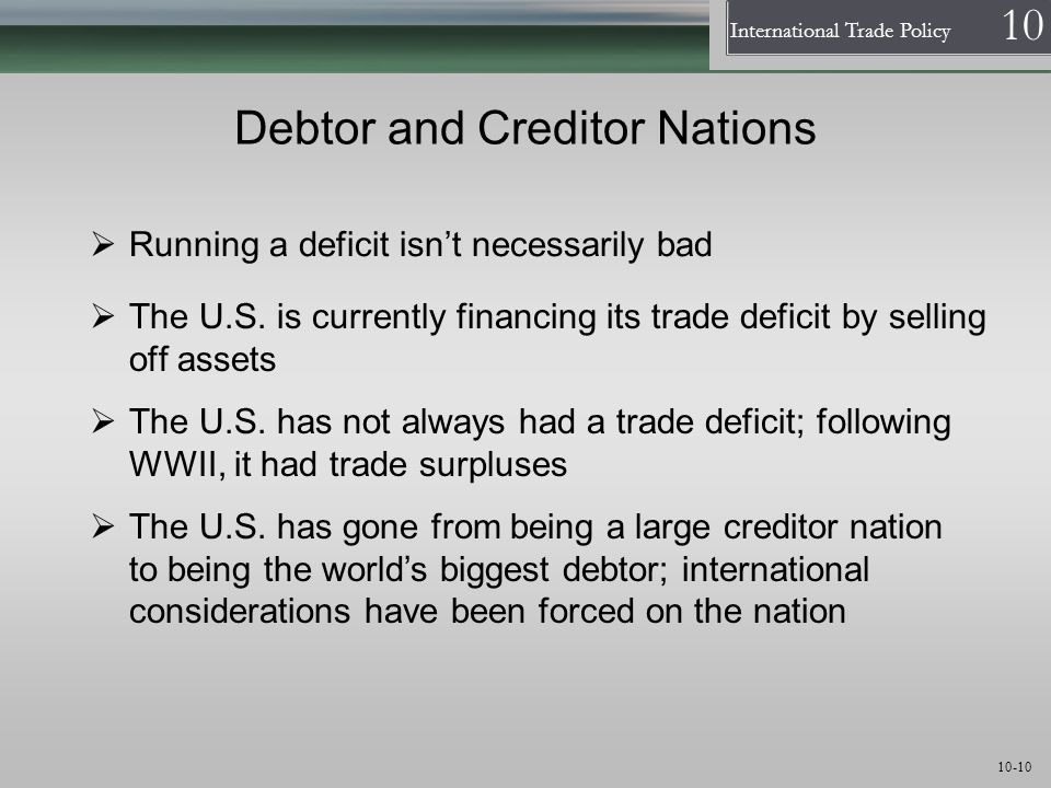 Debtor and Creditor Nations
