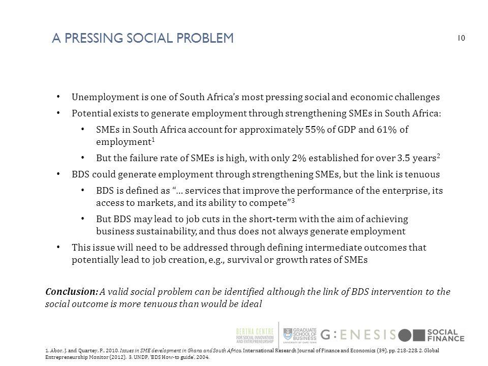 A pressing social Problem