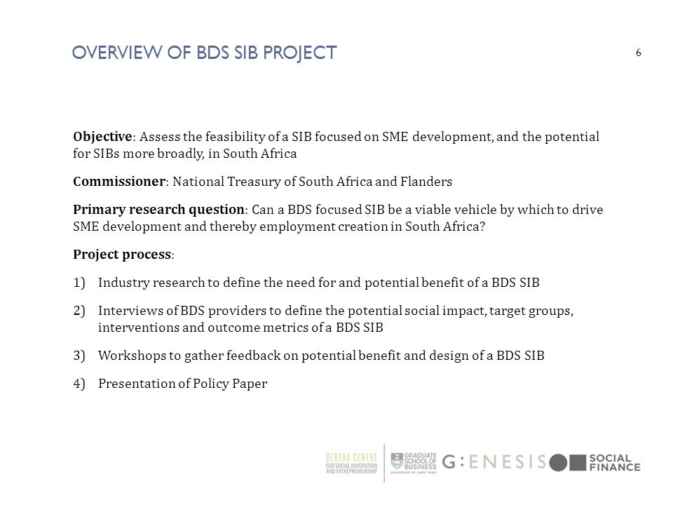 Overview of bds sib project
