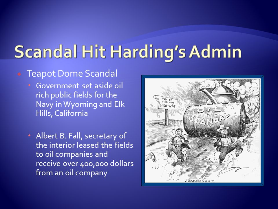 Scandal Hit Harding's Admin