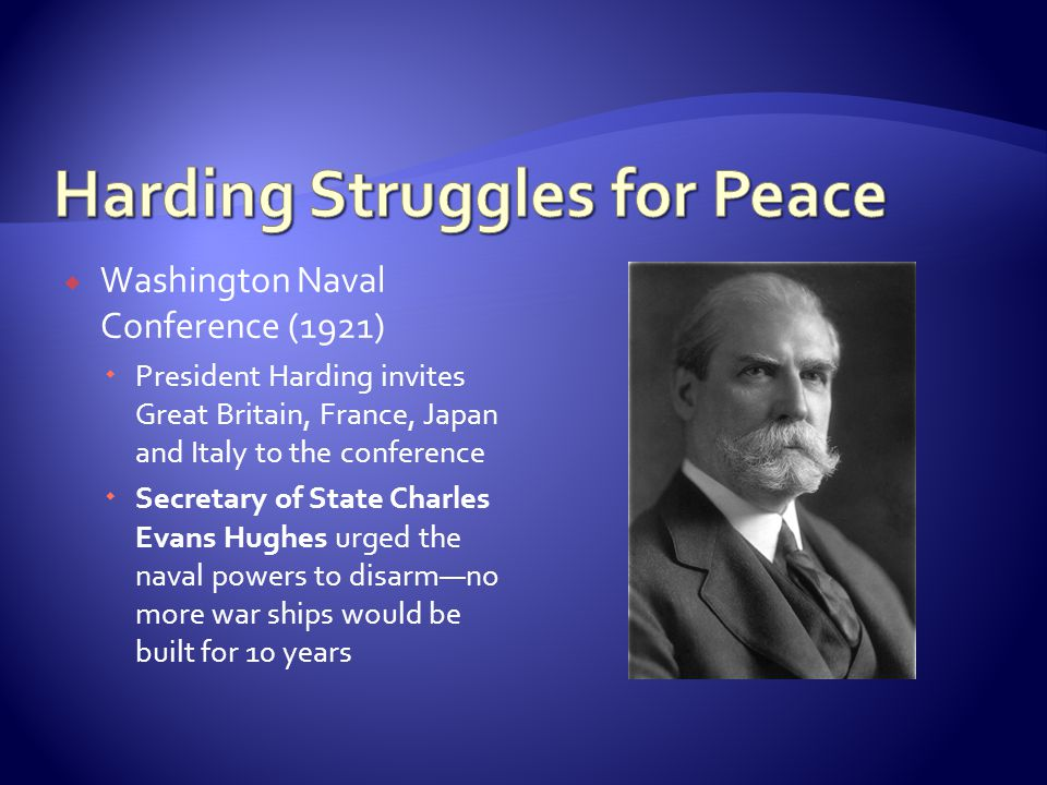 Harding Struggles for Peace