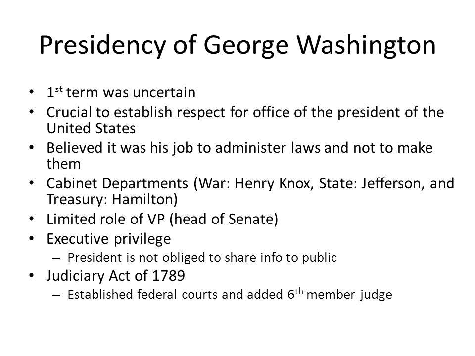 Presidency of George Washington