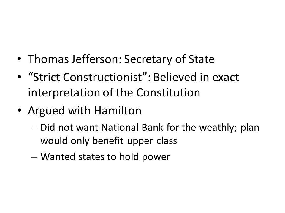 Thomas Jefferson: Secretary of State