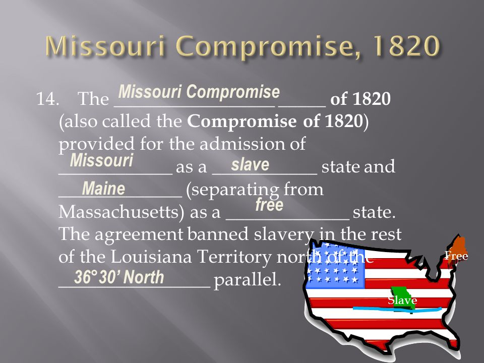 Missouri Compromise, 1820 Missouri Compromise