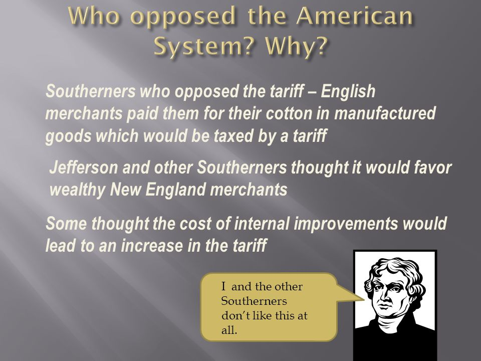Who opposed the American System Why