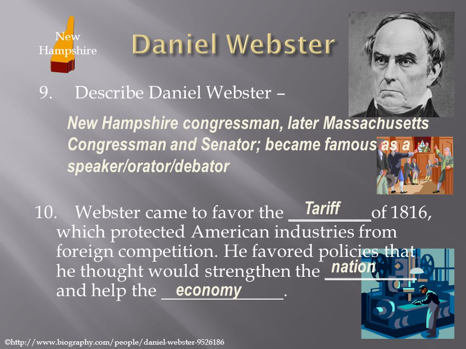 Daniel Webster New Hampshire.