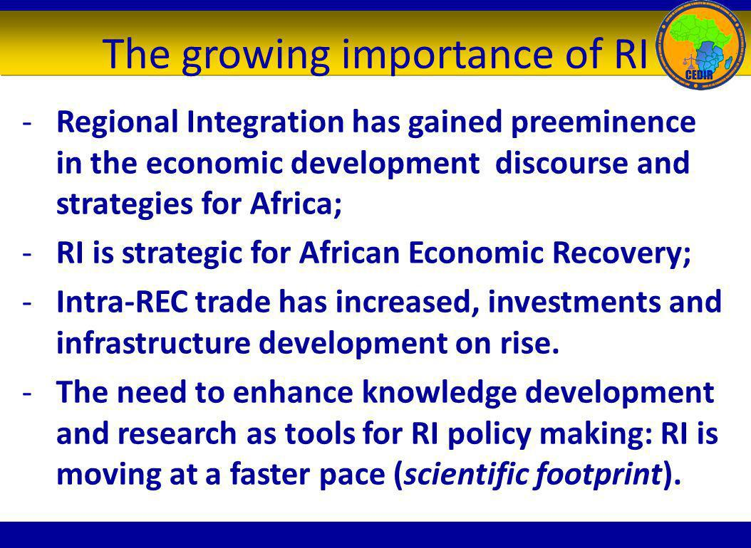 The growing importance of RI