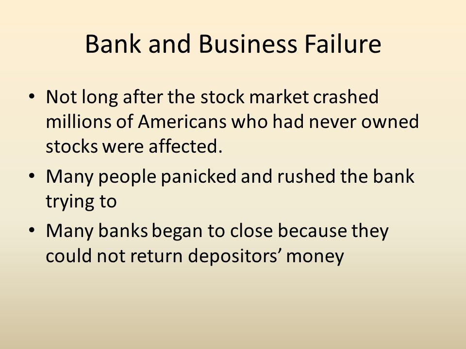 Bank and Business Failure